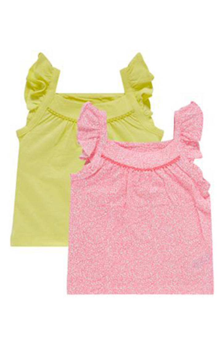 Mothercare | Yellow and Pink Printed Top - Pack of 2