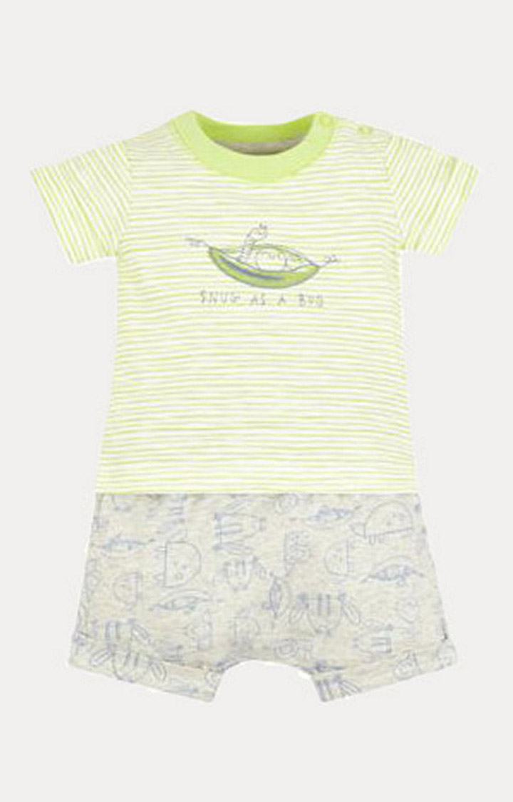 Mothercare | Green and Grey Printed Twin Set