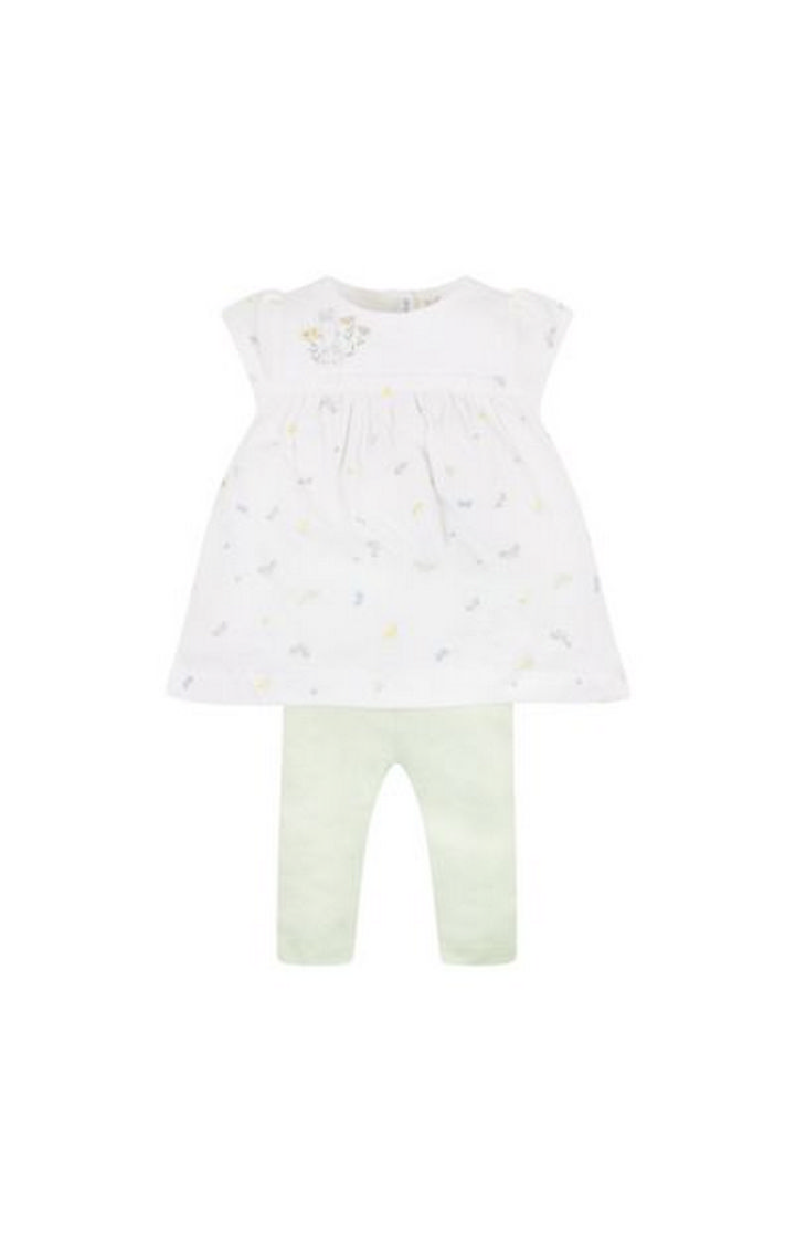 Mothercare   White Printed Twin Set