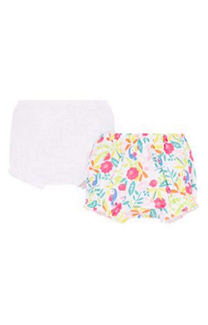 Mothercare   White and Green Printed Briefs - Pack of 2
