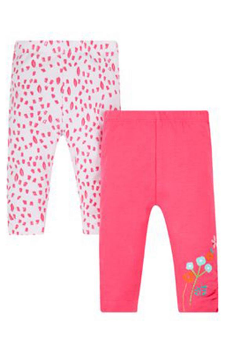 Mothercare | Pink Printed Leggings (Pack of 2)