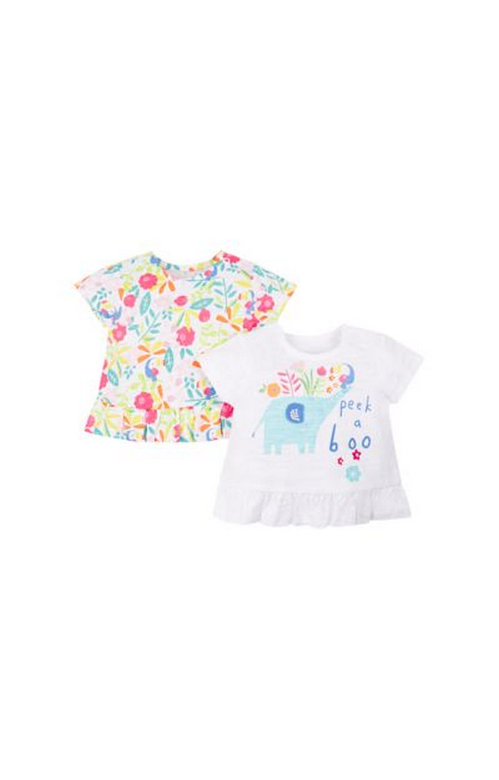 Mothercare | Multicoloured Printed Top - Pack of 2