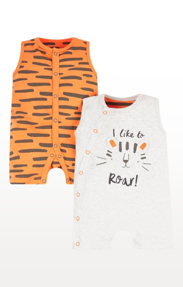 Mothercare | Little Tiger Rompers - Pack of 2