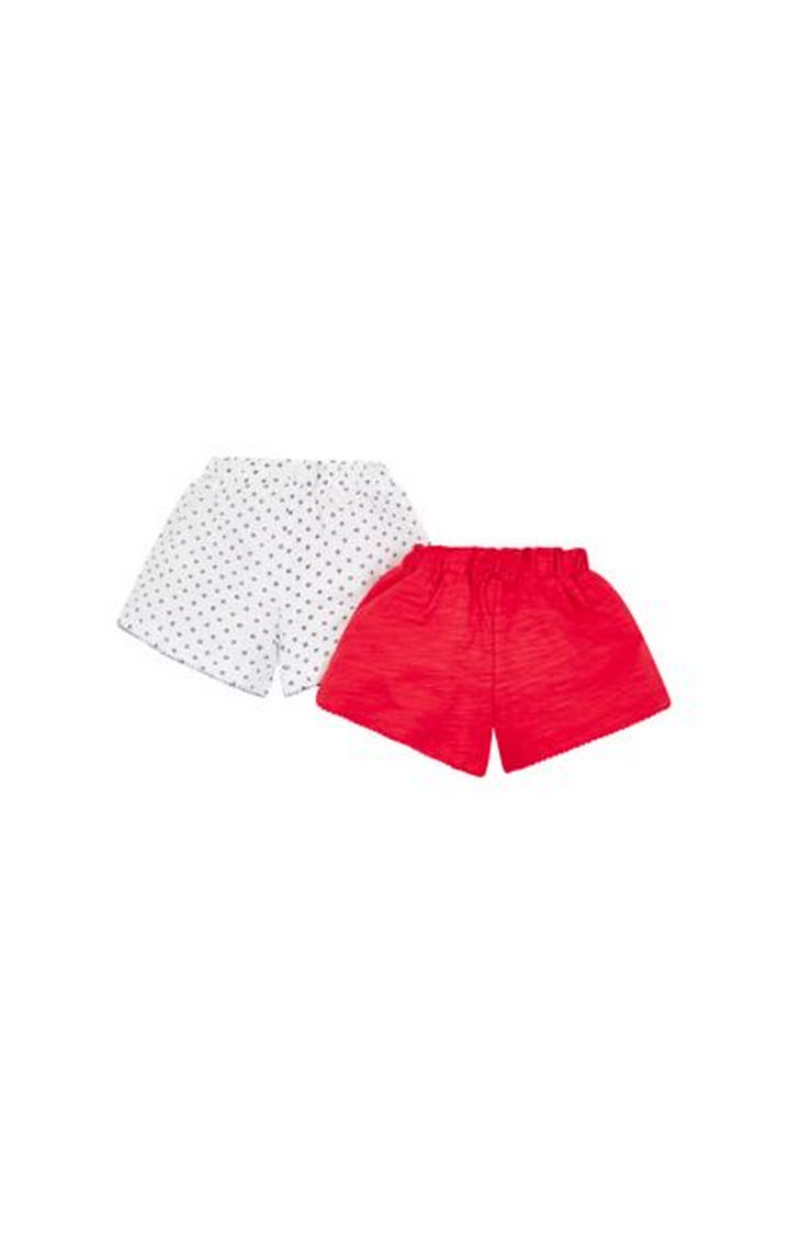 Mothercare | White and Red Printed Shorts - Pack of 2