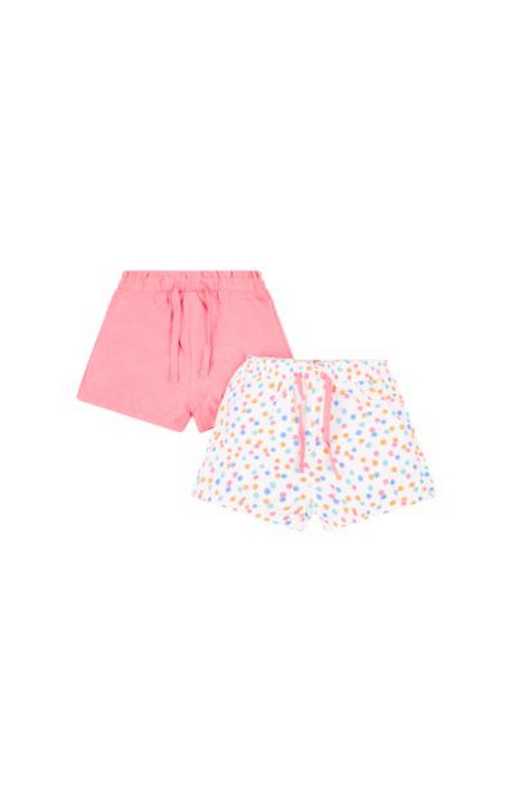 Mothercare | White and Pink Printed Shorts - Pack of 2