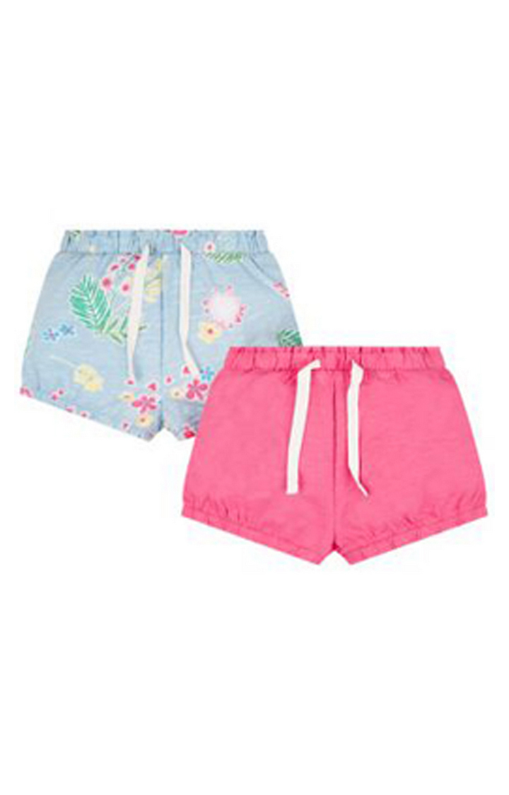 Mothercare   Blue and Pink Printed Shorts - Pack of 2