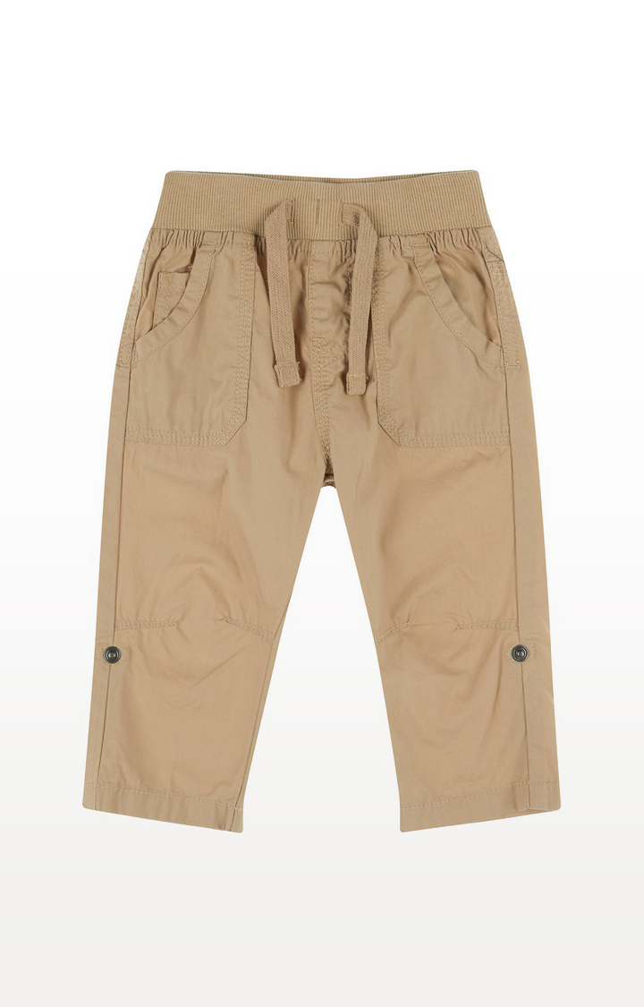 Mothercare | Stone Poplin Roll Up Trousers