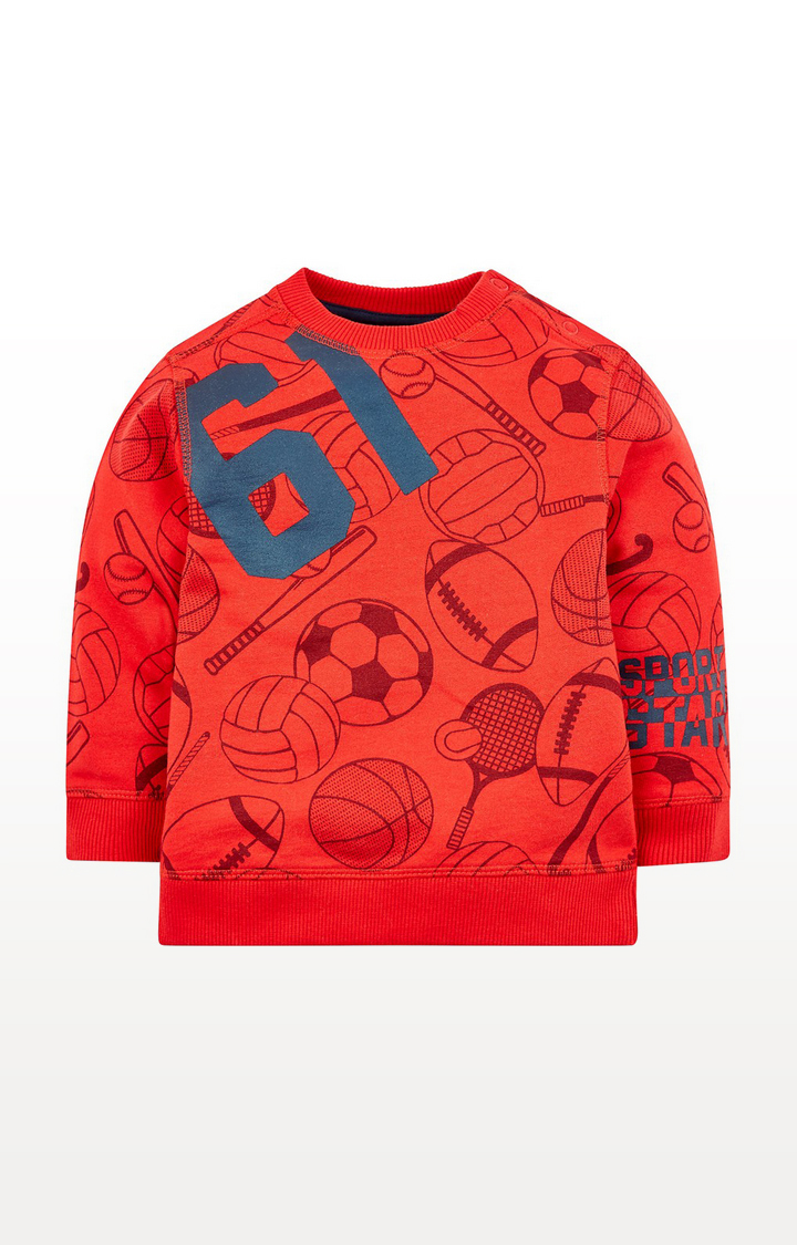 Mothercare | Red Sport Sweat Top