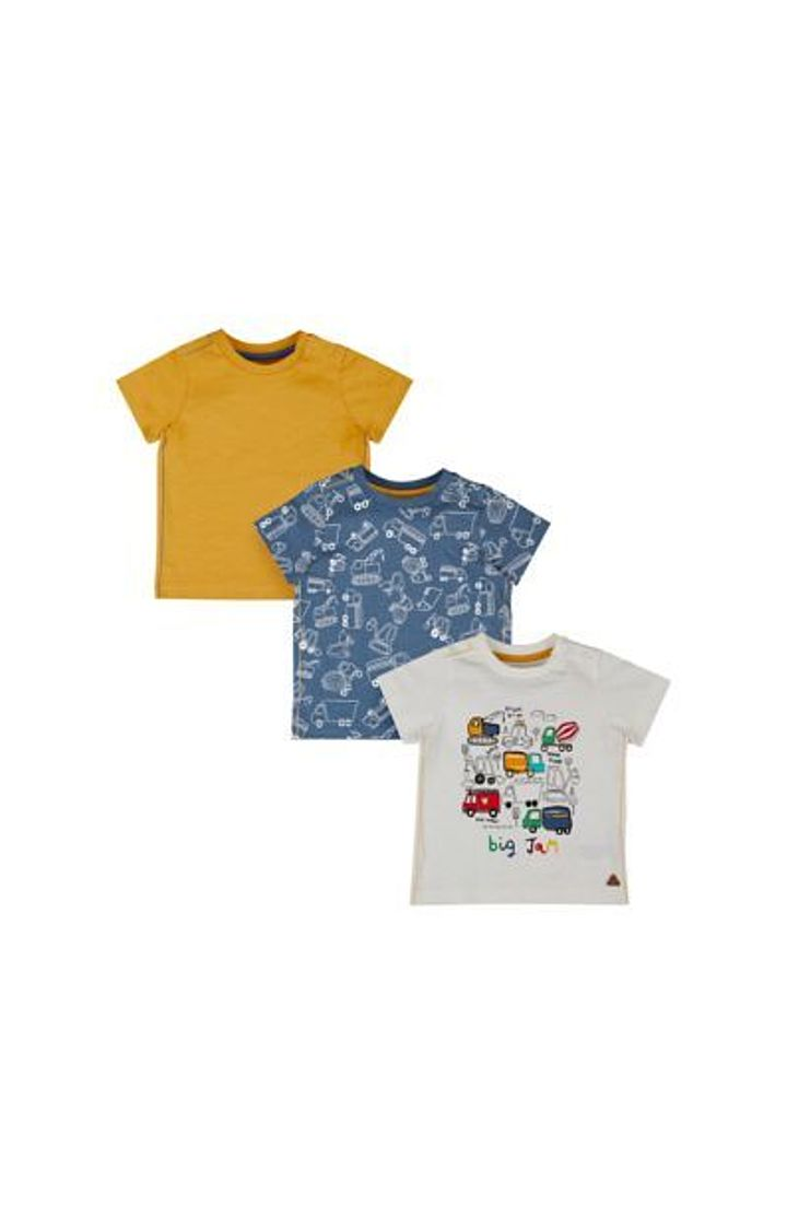 Mothercare | Big Jam Vehicle T-Shirts - 3 Pack
