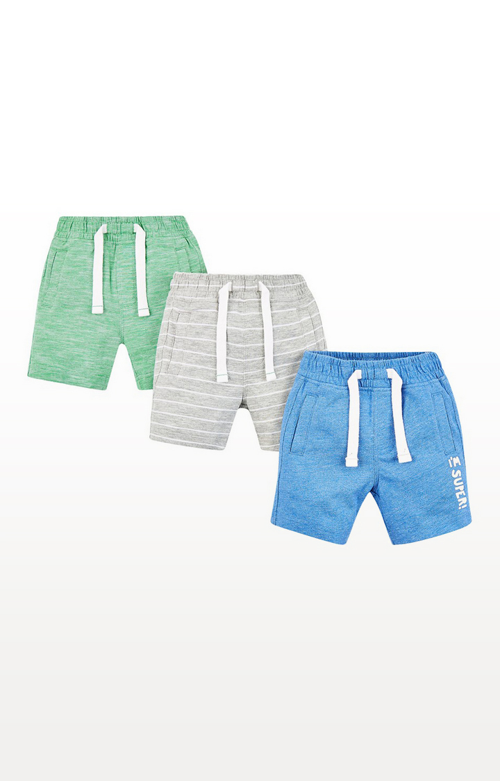Mothercare | Grey, Green And Blue Shorts