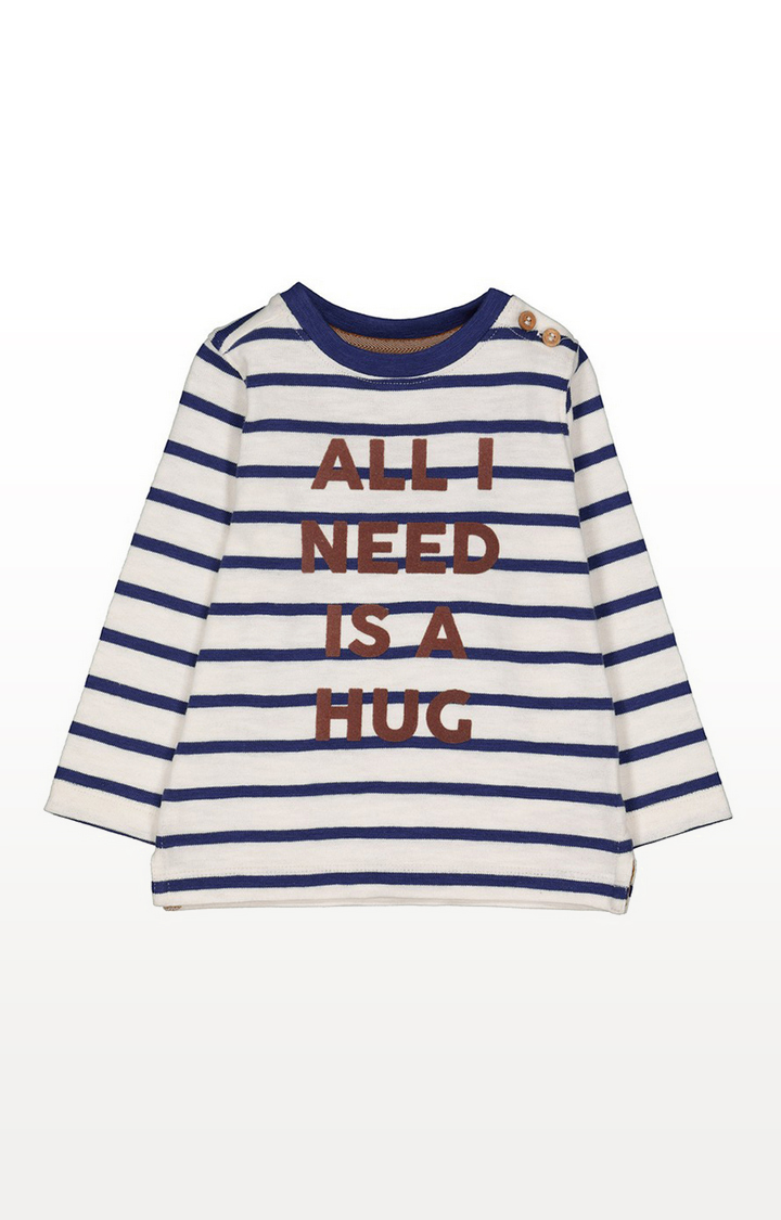 Mothercare   White Striped T-Shirt