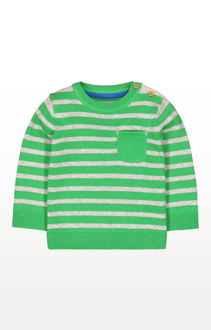 Mothercare | Green Striped Knitted Jumper