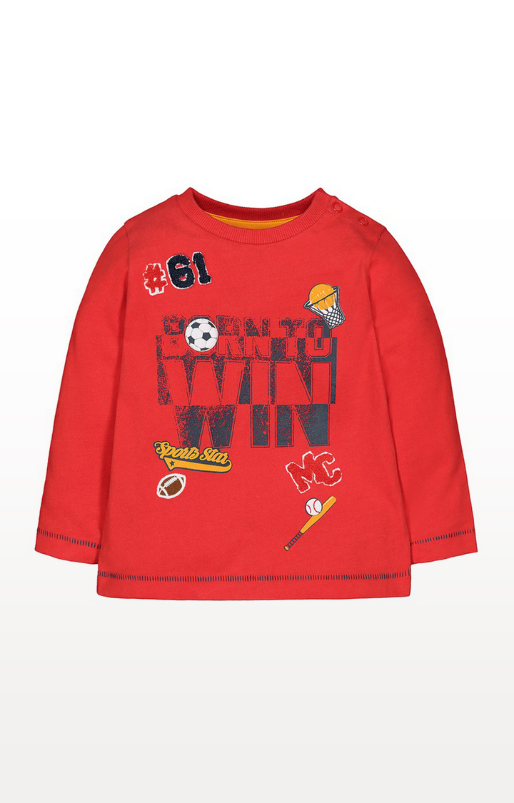 Mothercare   Red Born To Win T-Shirt
