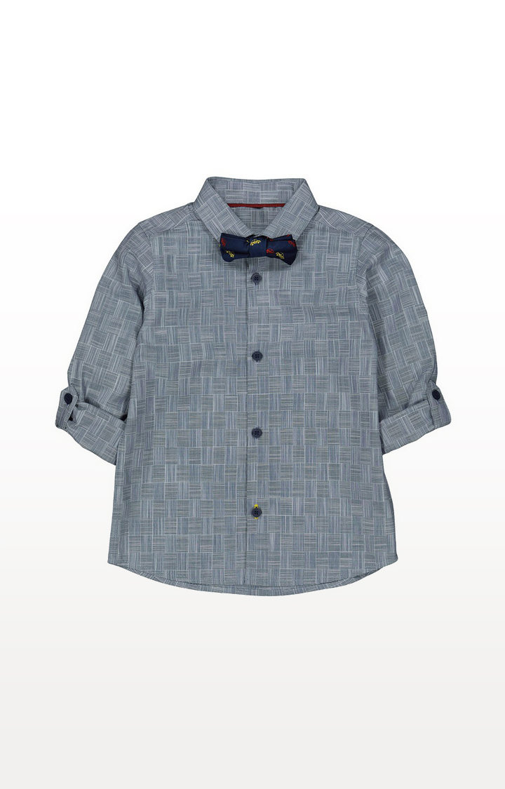 Mothercare | Navy Shirt With Bow Tie