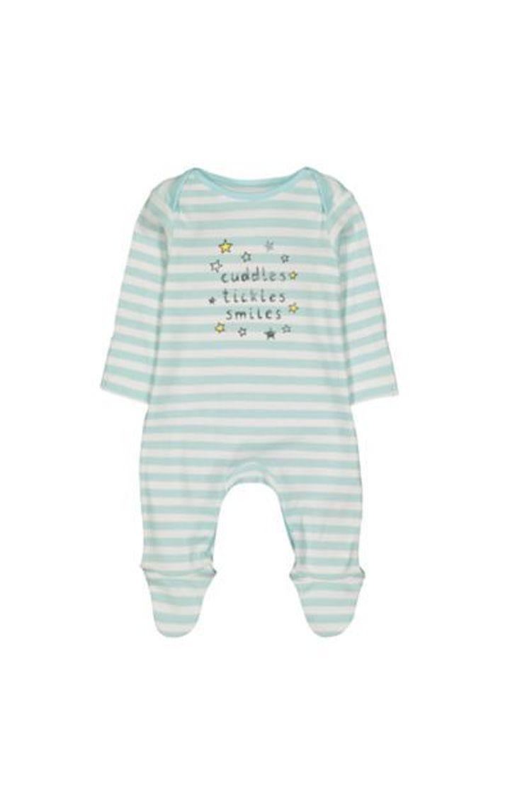 Mothercare | Cuddles Tickles Smiles Stripe Sleepsuit