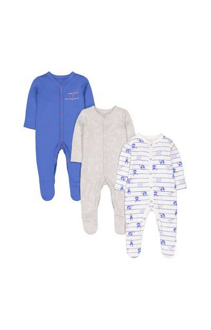 Mothercare | Monkey Sleepsuits - 3 Pack