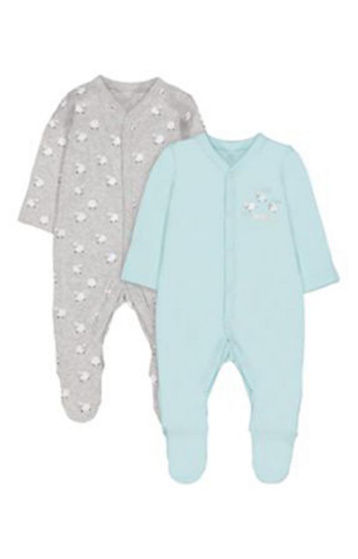 Mothercare   Sleepy Sheep Sleepsuits - 2 Pack