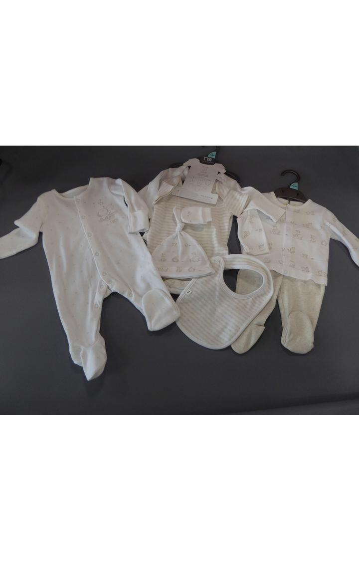 Mothercare   Beige Printed Romper Set