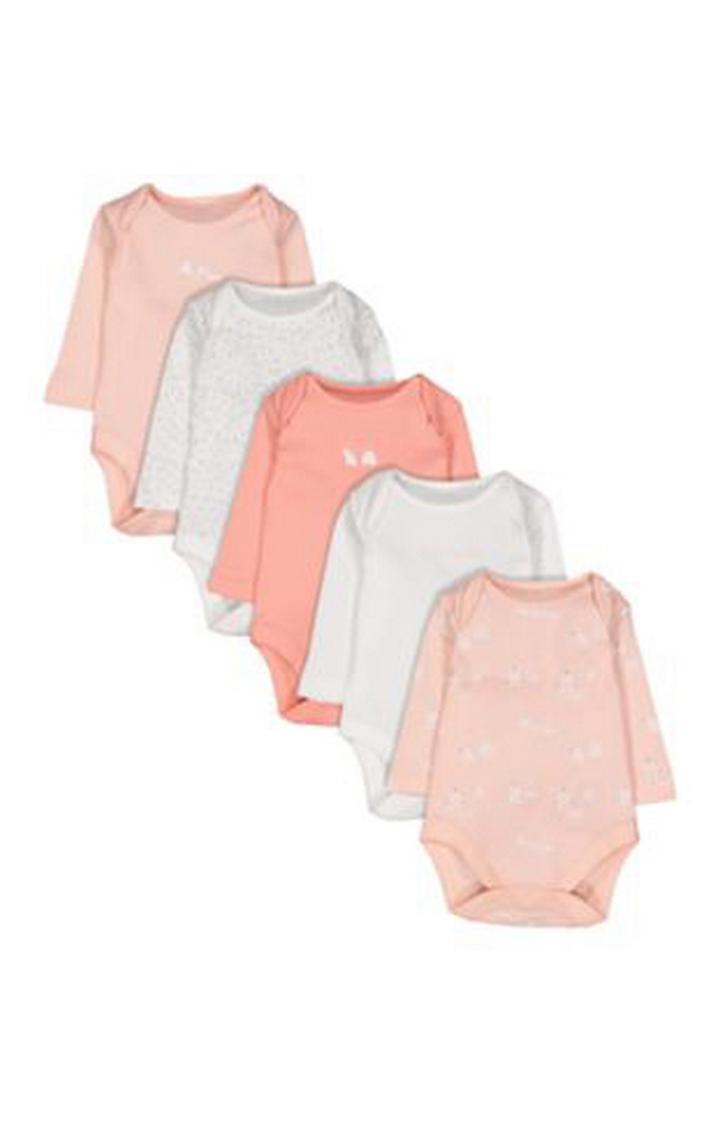Mothercare | Polar Bear Bodysuits - 5 Pack