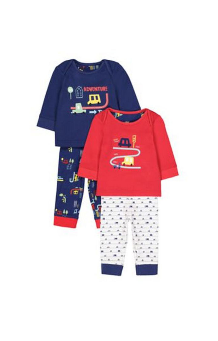 Mothercare | Beep Beep Vehicle Pyjamas - 2 Pack