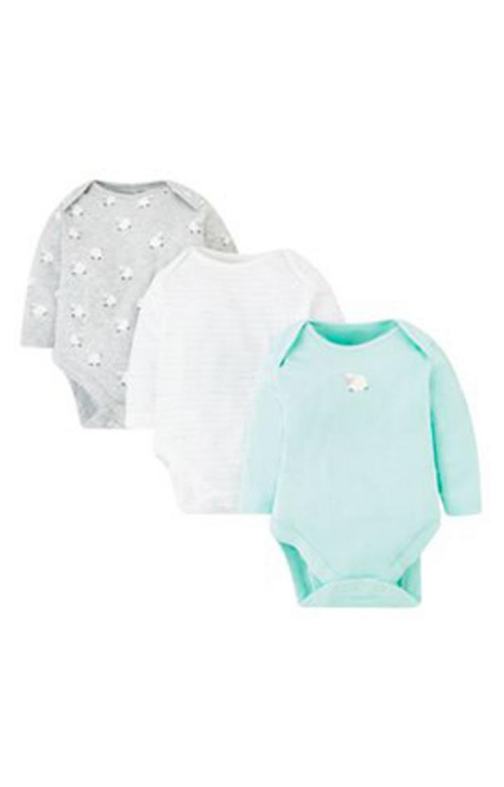Mothercare | Sleepy Sheep Bodysuits - 3 Pack