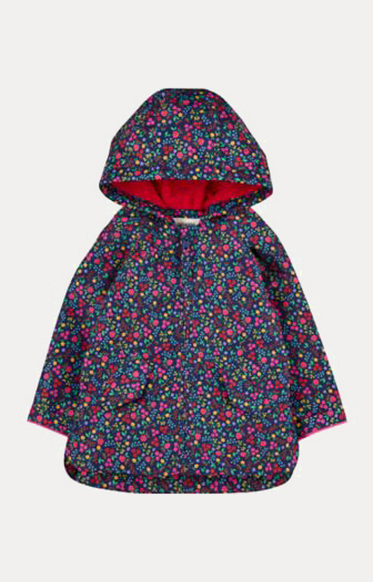 Mothercare | Navy Floral Fleece-Lined Mac