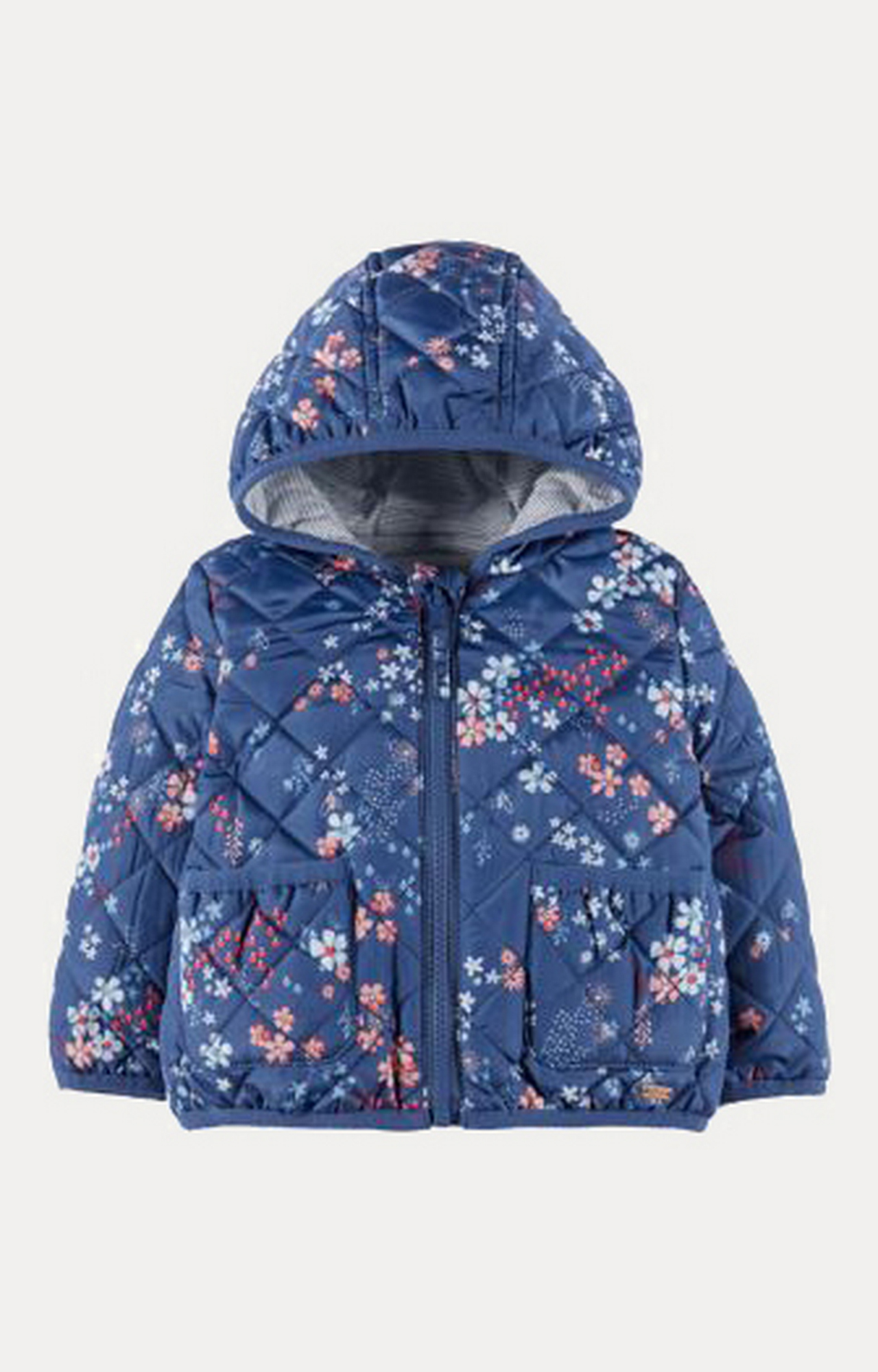 Mothercare | Floral Quilted Hooded Jacket