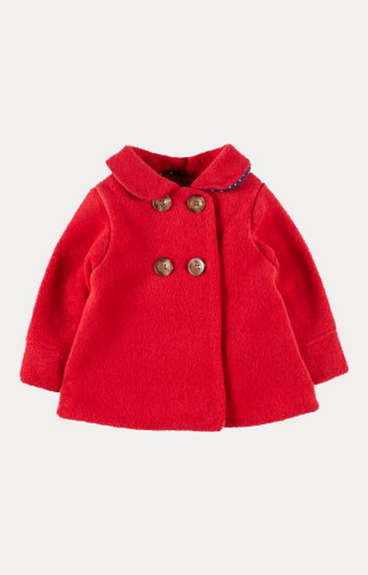 Mothercare | Red Fleece Swing Coat
