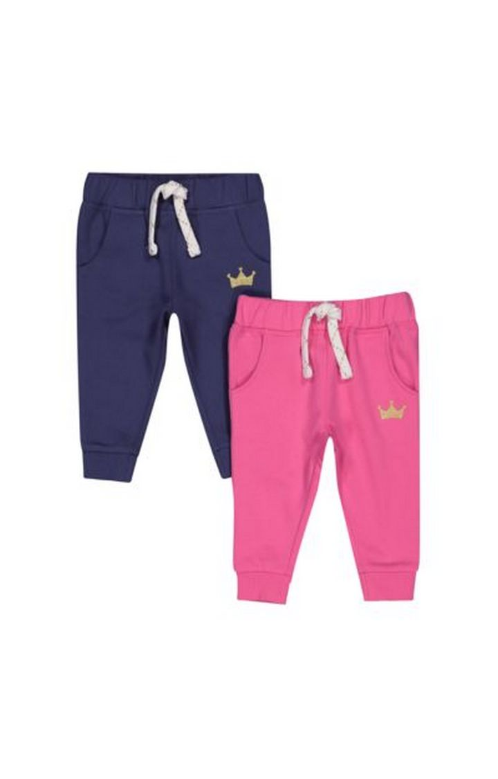 Mothercare | Pink And Navy Joggers - 2 Pack