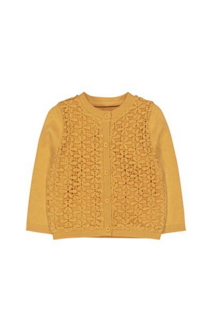 Mothercare | Mustard Woven Front Cardigan