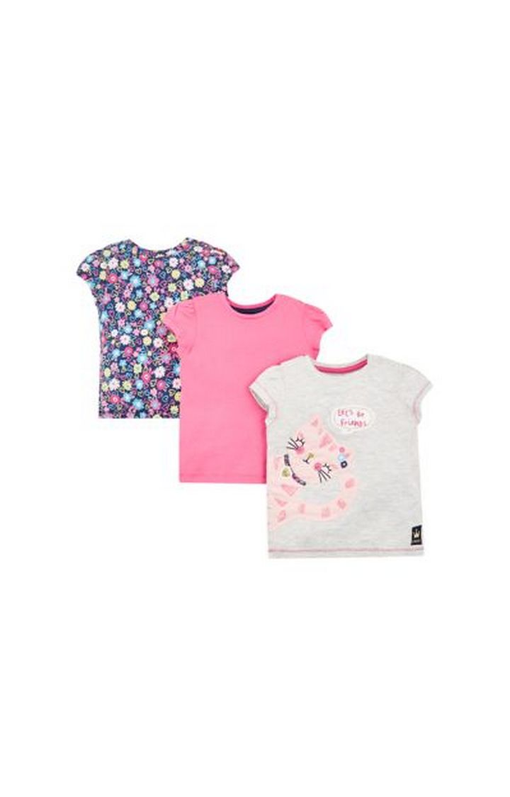 Mothercare | Let'S Be Friends Cat T-Shirts - 3 Pack