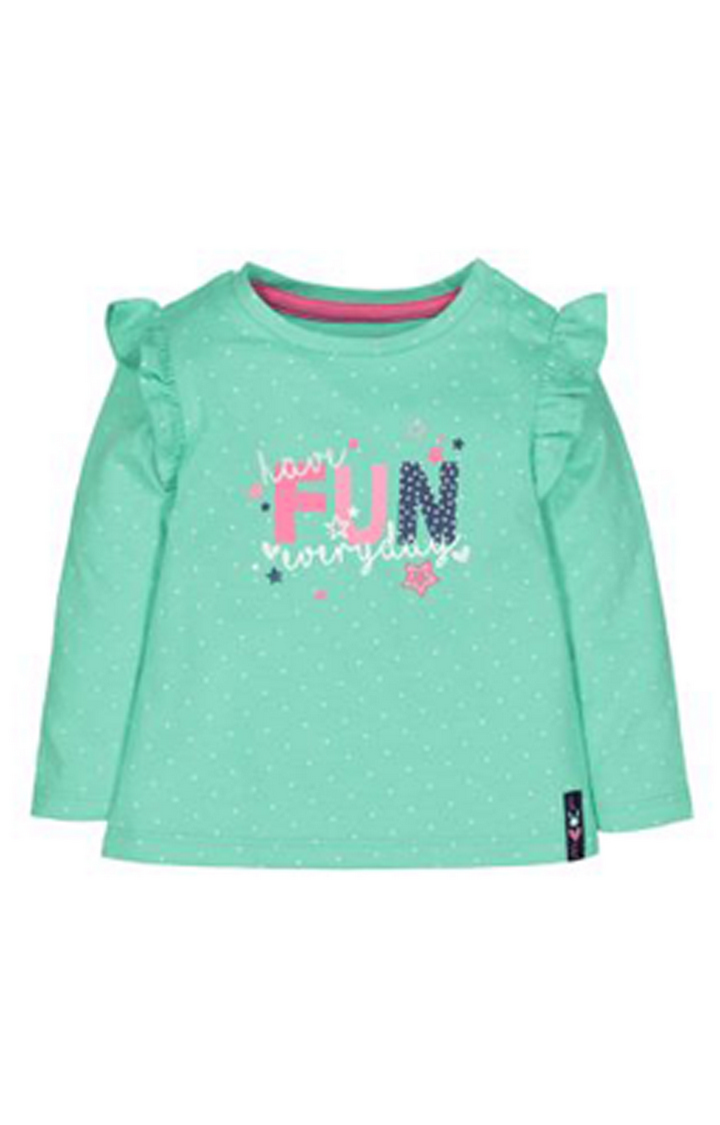 Mothercare | Green Fun Frill T-Shirt