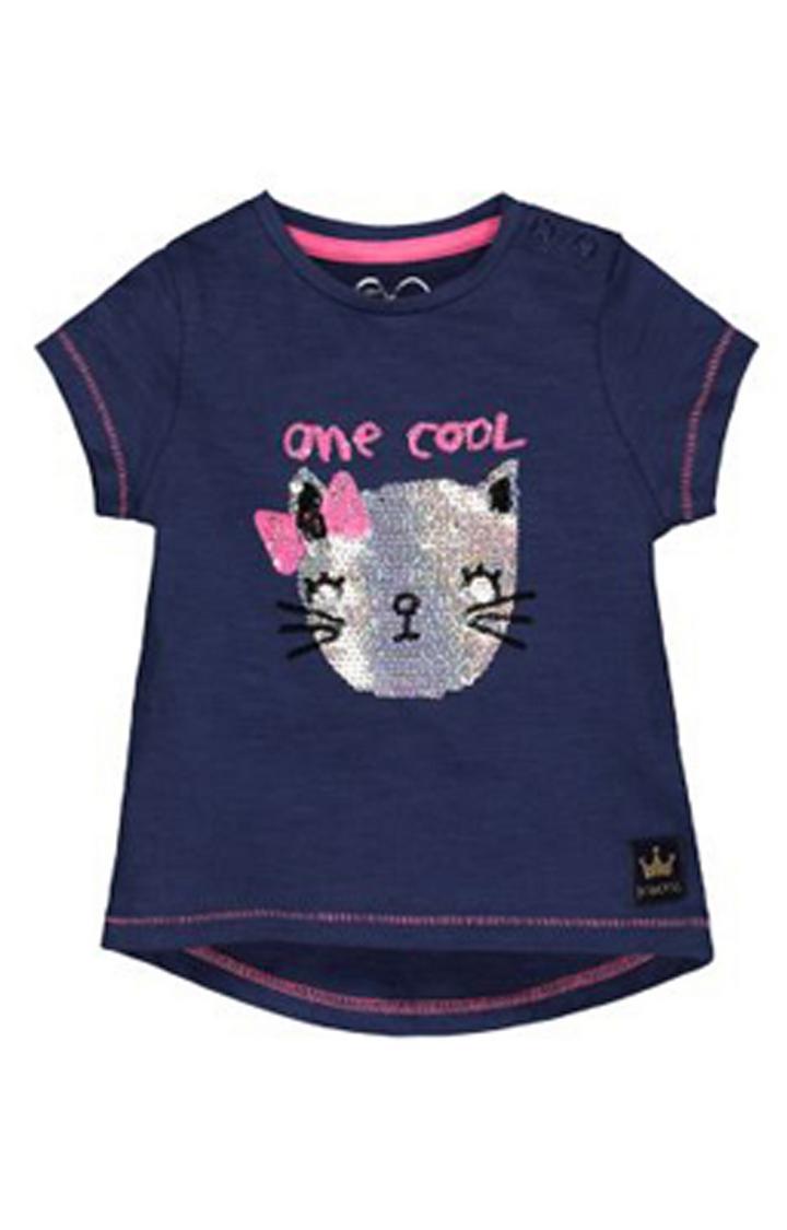 Mothercare | Navy Cool Cat T-Shirt