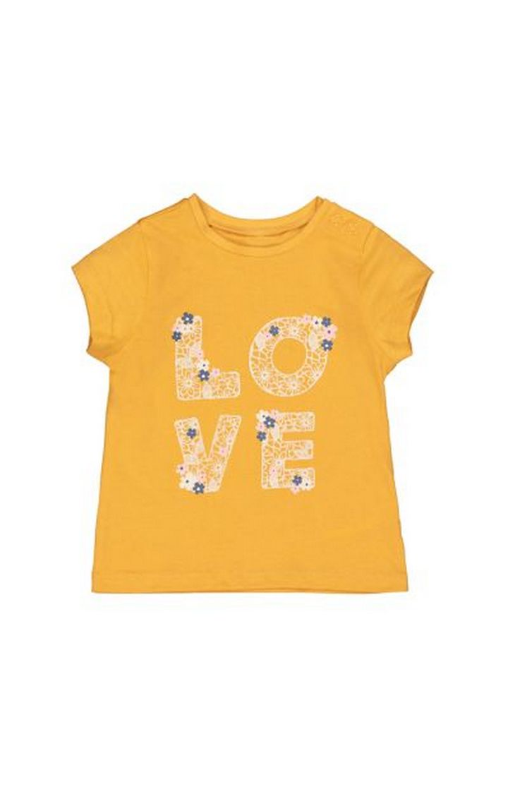 Mothercare | Mustard Love T-Shirt