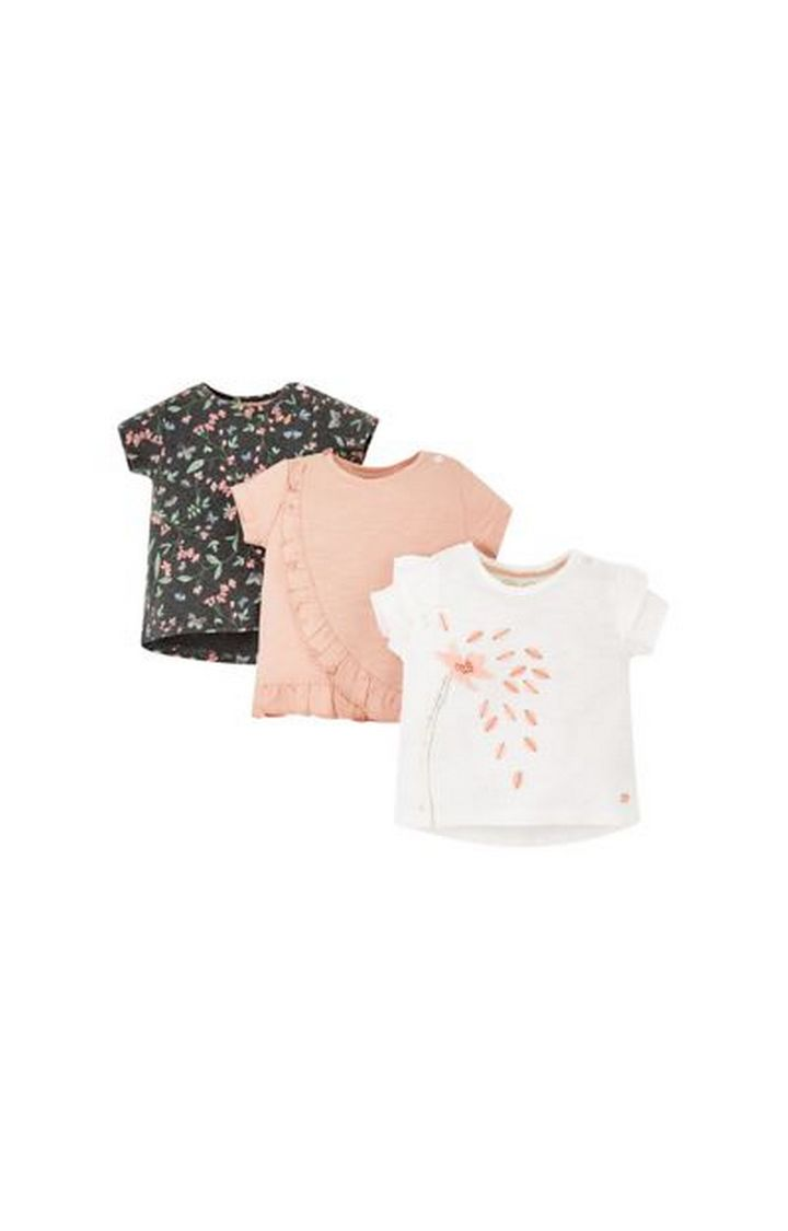 Mothercare | Flower Petal T-Shirts - 3 Pack