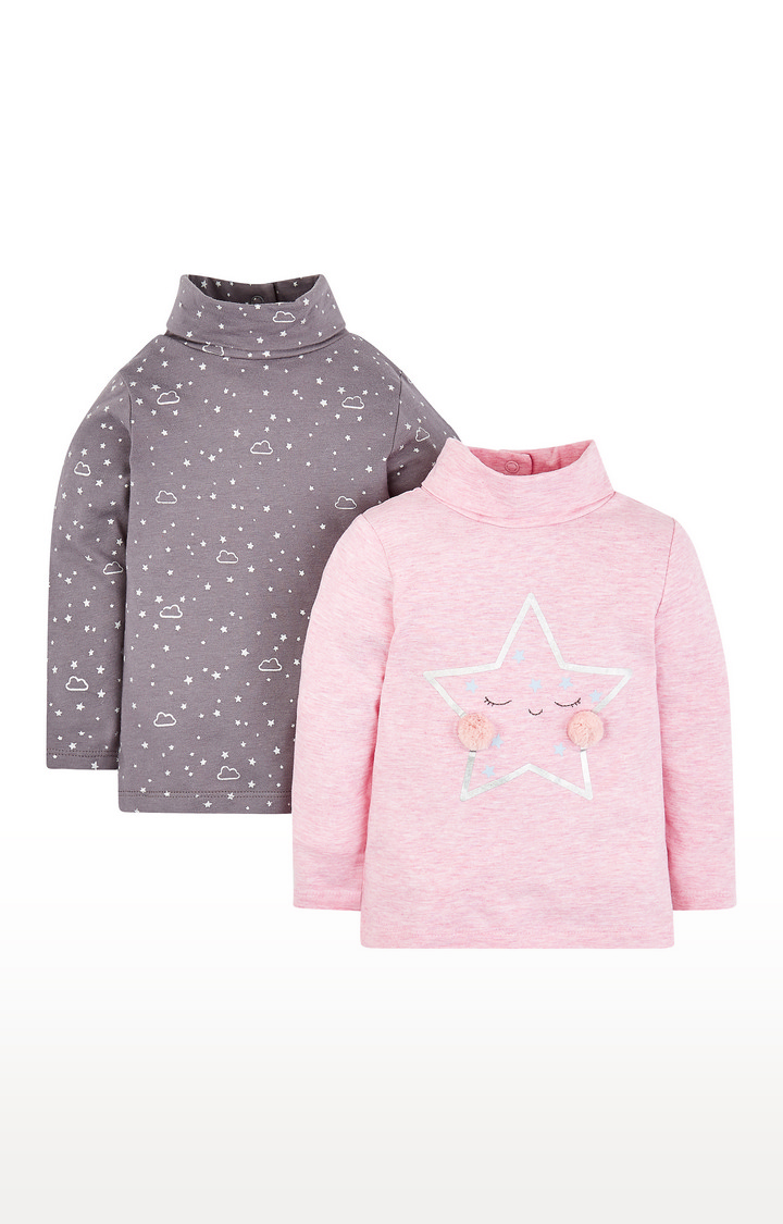 Mothercare | Star Roll Neck T-Shirts - 2 Pack
