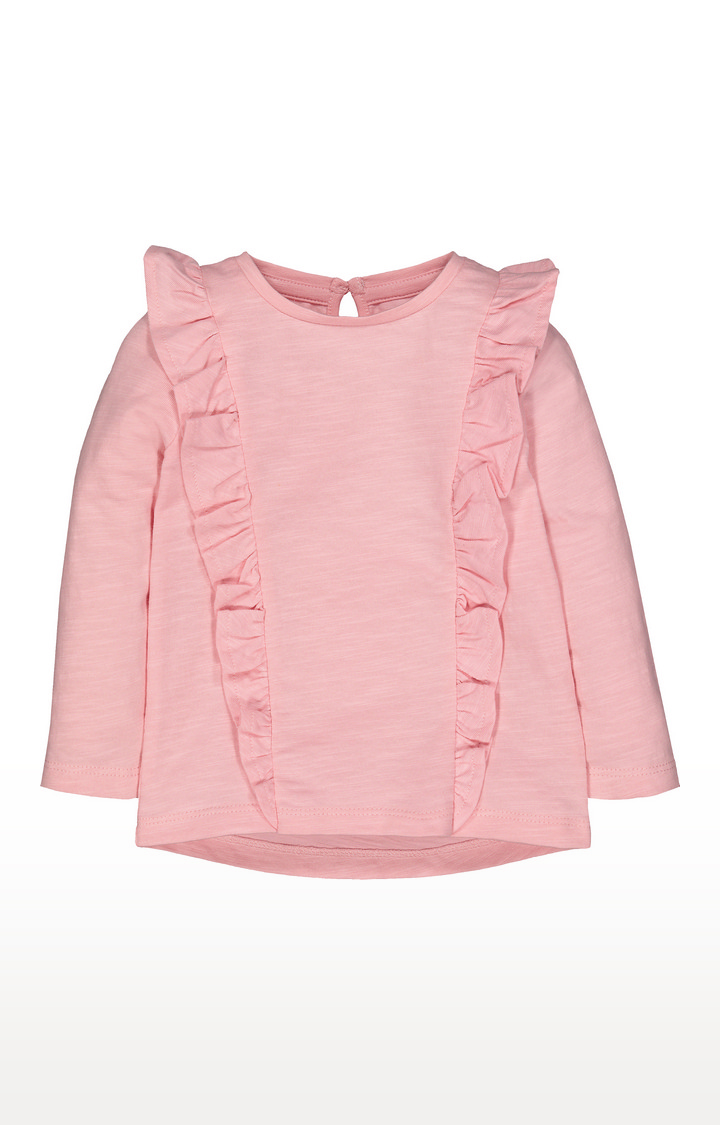 Mothercare | Pink Frill T-Shirt