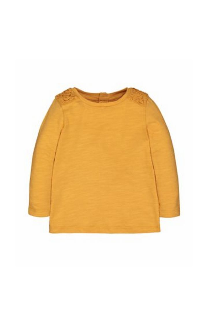 Mothercare | Mustard Crochet Shoulder T-Shirt