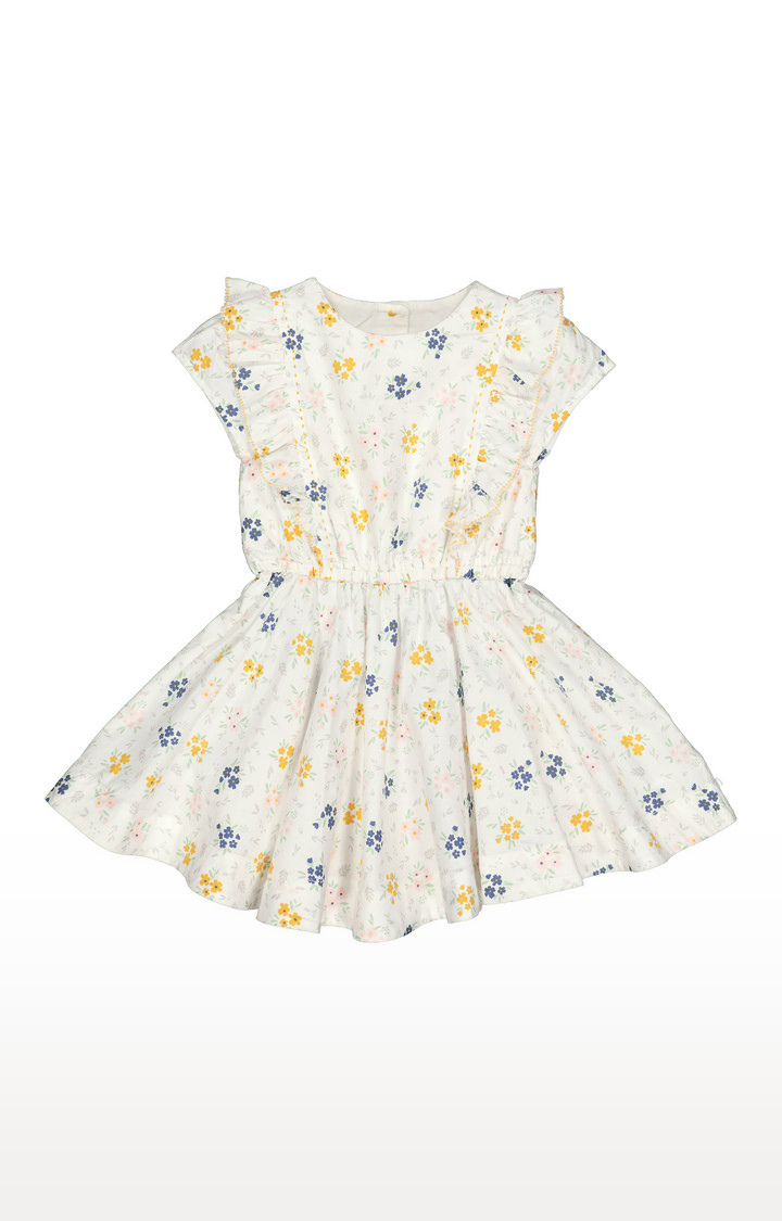 Mothercare | White Floral Dress