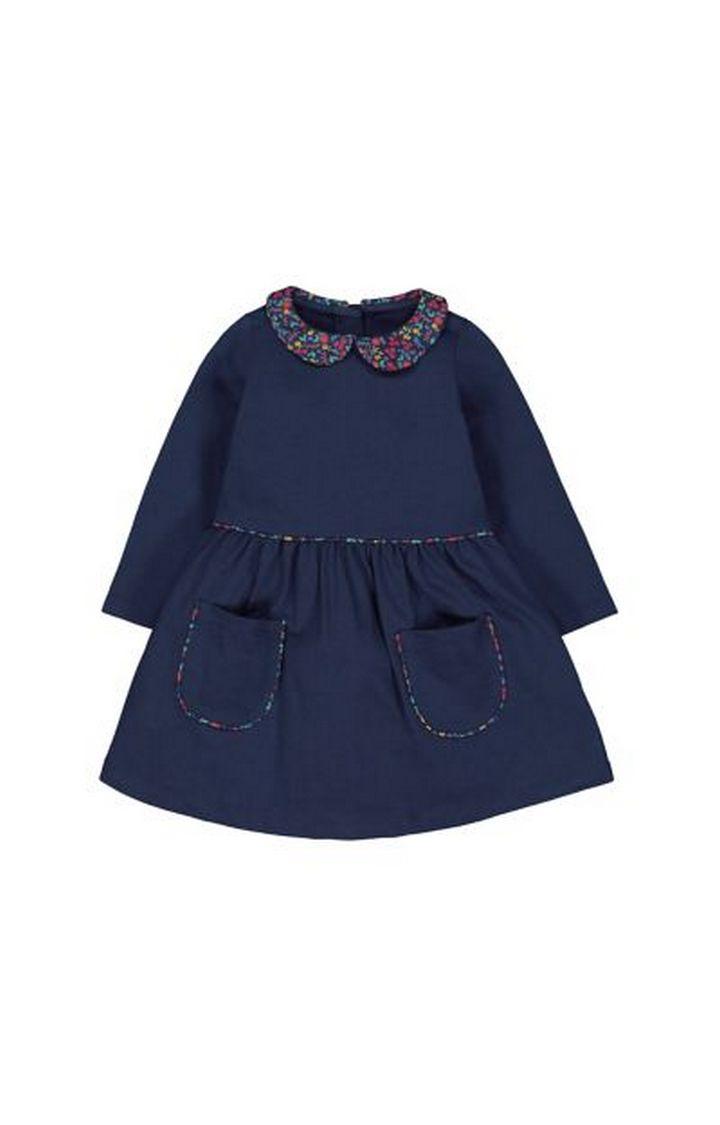 Mothercare | Navy Floral Collar Dress
