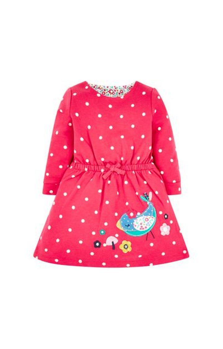 Mothercare   Red Spot Bird Sweat Dress