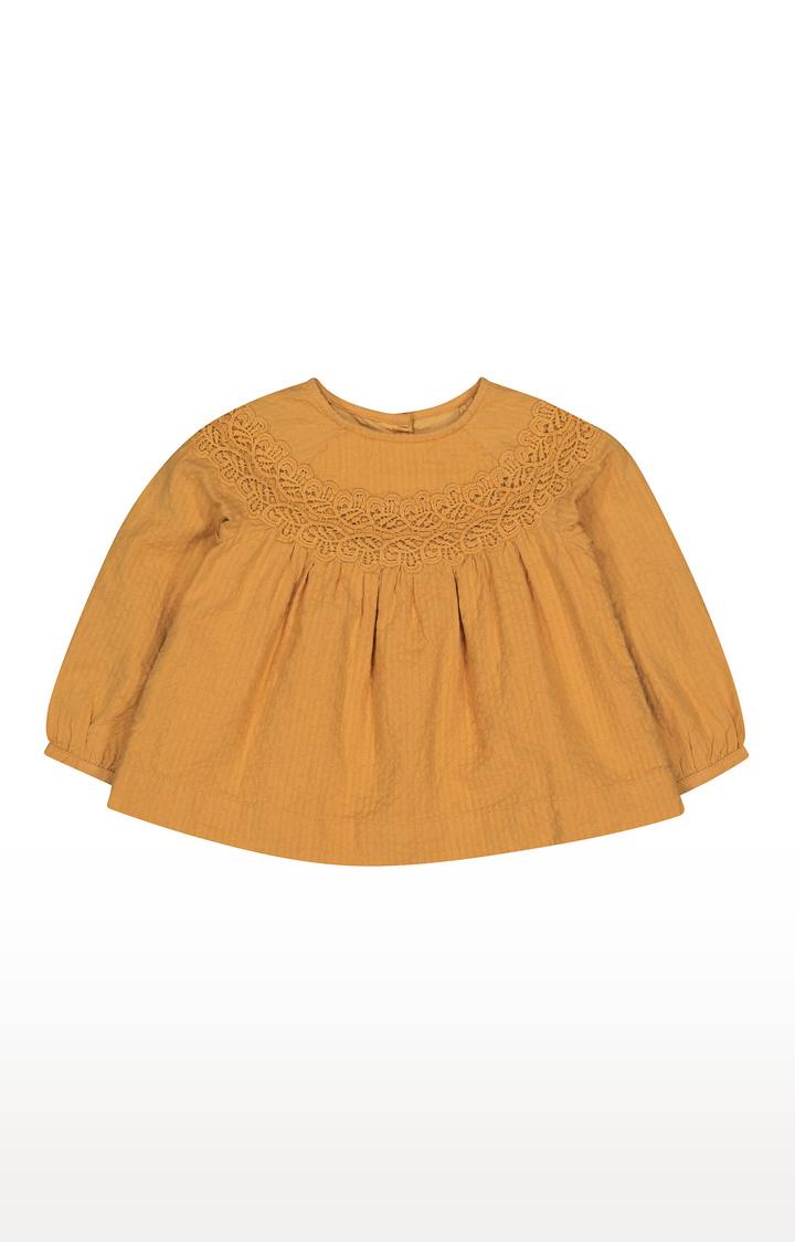 Mothercare | Mustard Crochet Blouse