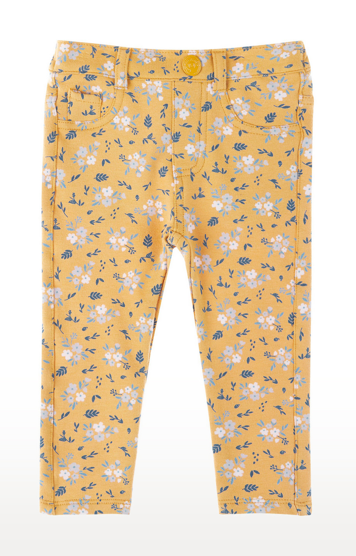 Mothercare | Mustard Floral Trousers