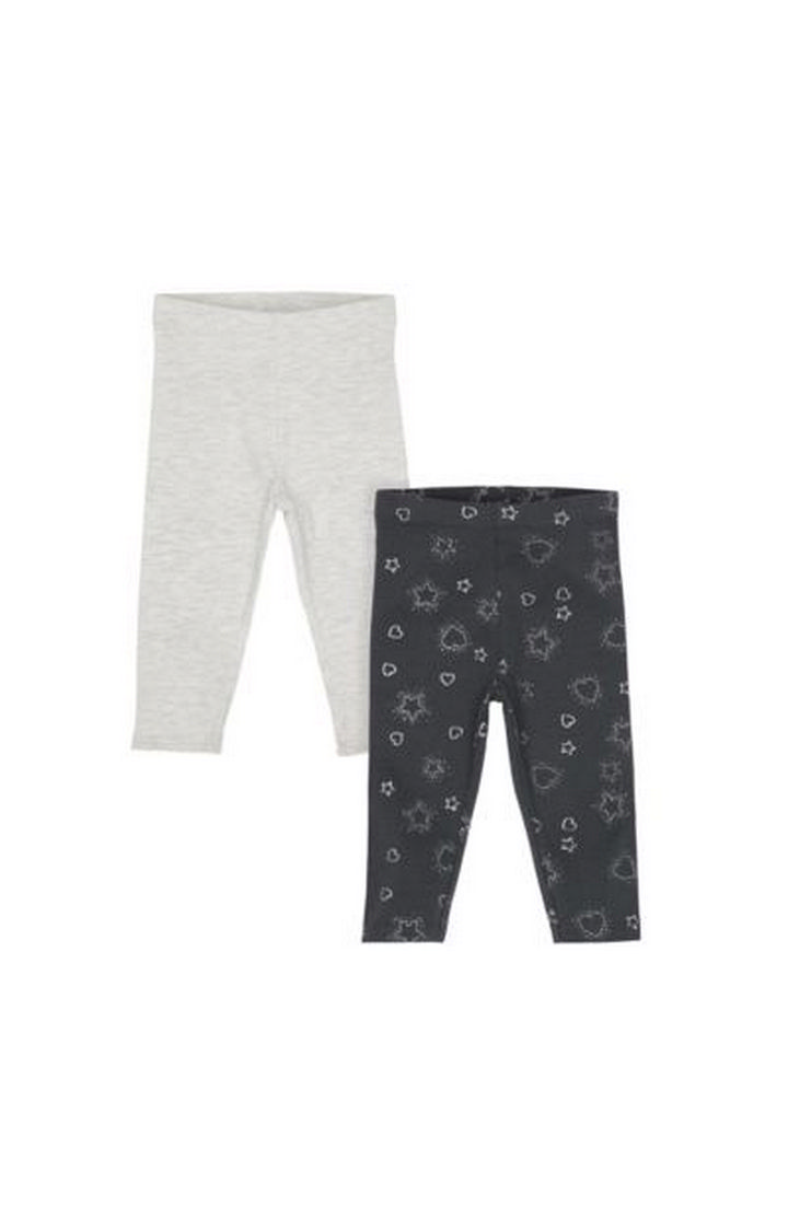 Mothercare   Grey Sparkle Leggings - 2 Pack