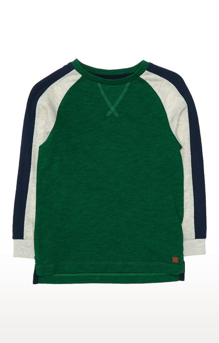 Mothercare | Green Contrast Sleeve T-Shirt