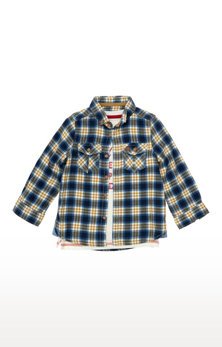 Mothercare | Checked Shirt And T-Shirt Set