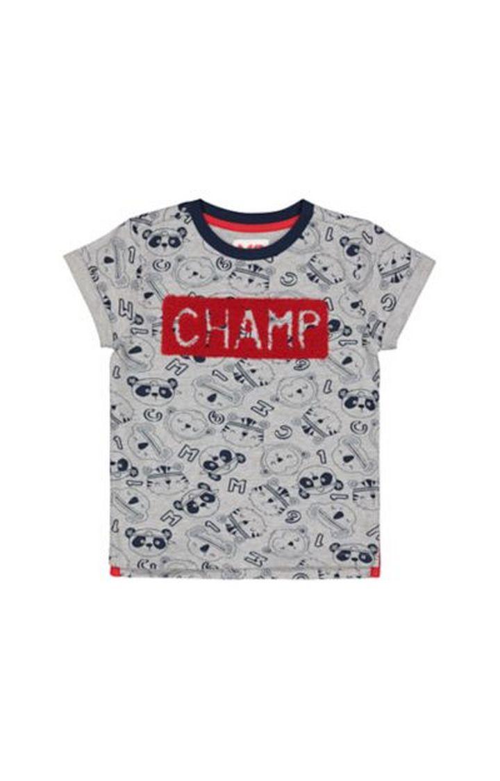 Mothercare | Grey Champ Animal T-Shirt