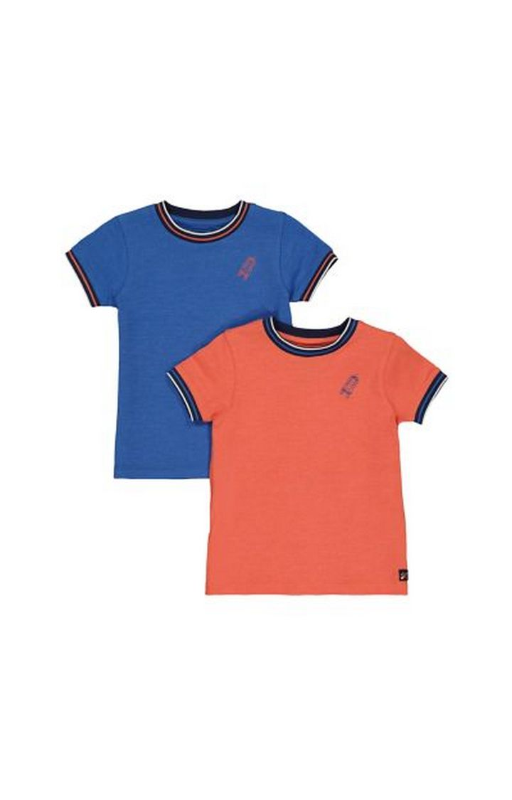Mothercare | Blue And Orange Pique T-Shirts - 2 Pack