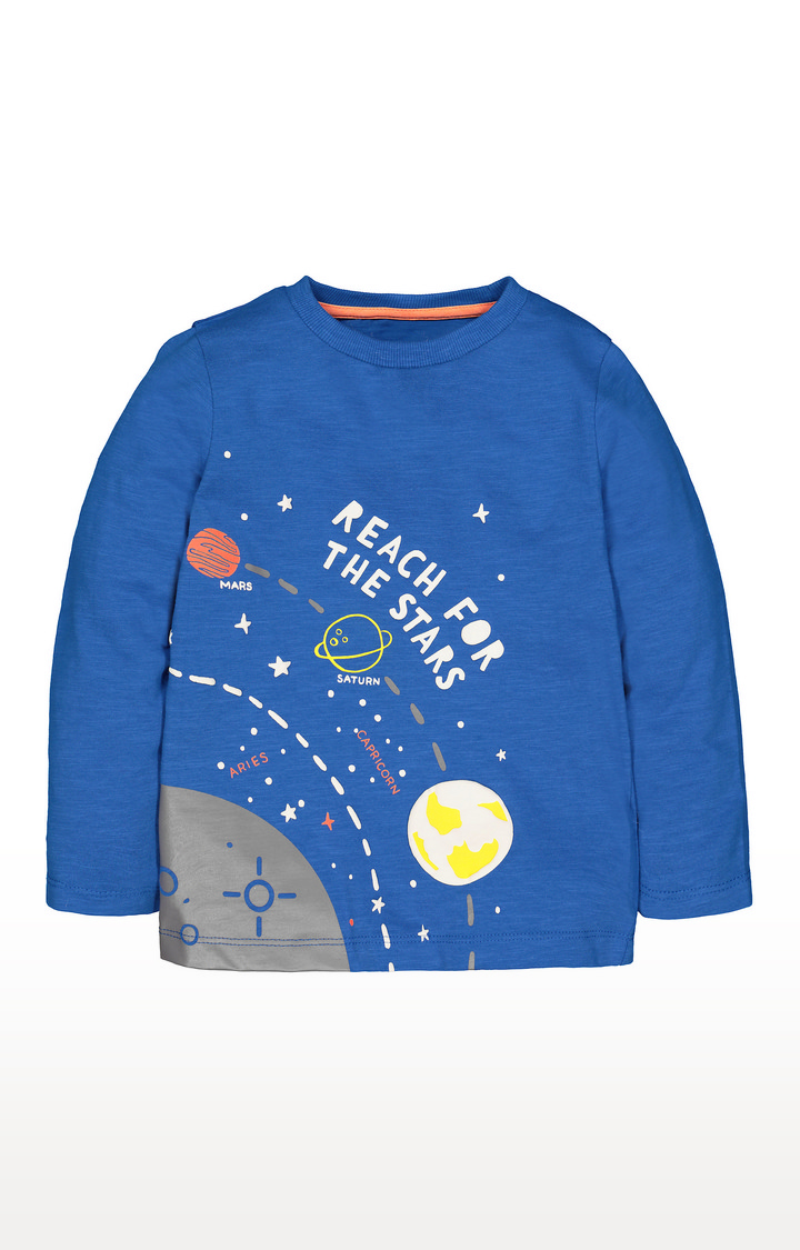 Mothercare | Blue Reach For The Stars T-Shirt