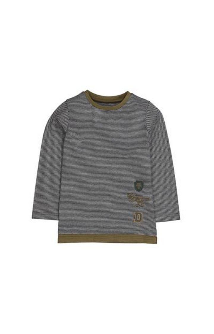 Mothercare | Dinosaur Mini-Stripe T-Shirt